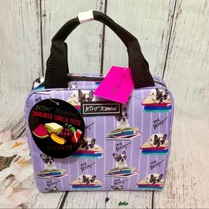 Betsey Johnson Insulated Lunch Bag French Bull Dog